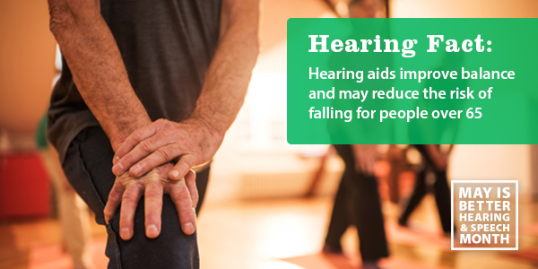 Heaing aids improve balance and may redeuce the rsik of fall in people over 65