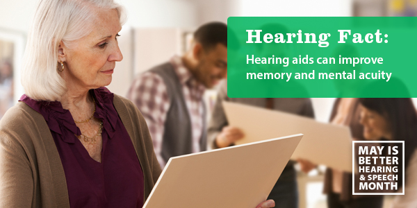 Hearing aids improve memory and mental acuity
