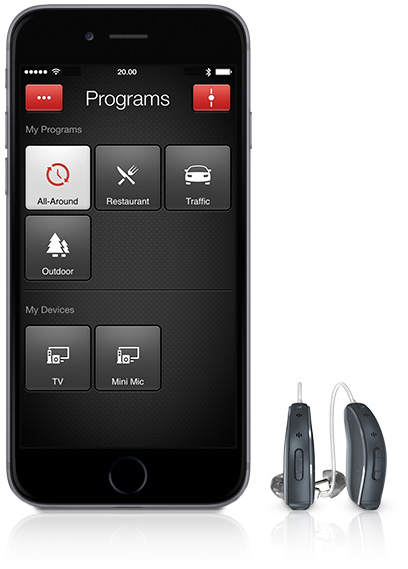 smartphone with hearing aids