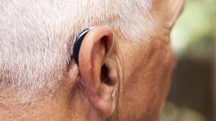 behind-the-ear hearing aid